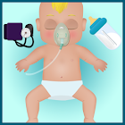 baby care hospital games icon