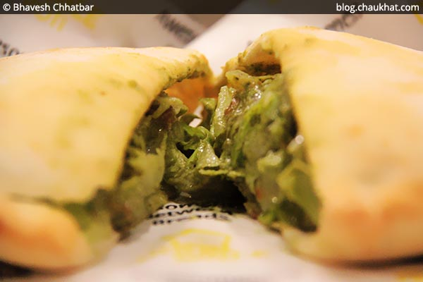 Close-up of Garden of Five Senses Pita Bread at Double Roti, Viman Nagar, Pune