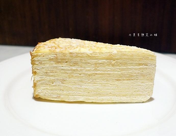 23 台南 深藍咖啡館 千層蛋糕