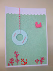 A glittered under-the-sea card for Hannah