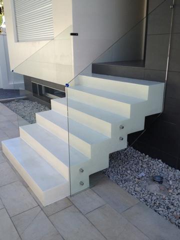 escalera exterior: