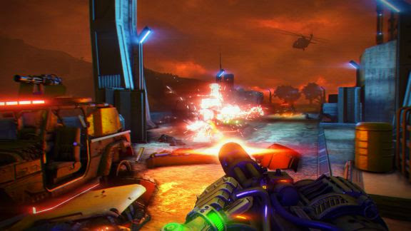 Screen Shot Of Far Cry 3 Blood Dragon (2013) Full PC Game Free Download at Alldownloads4u.Com