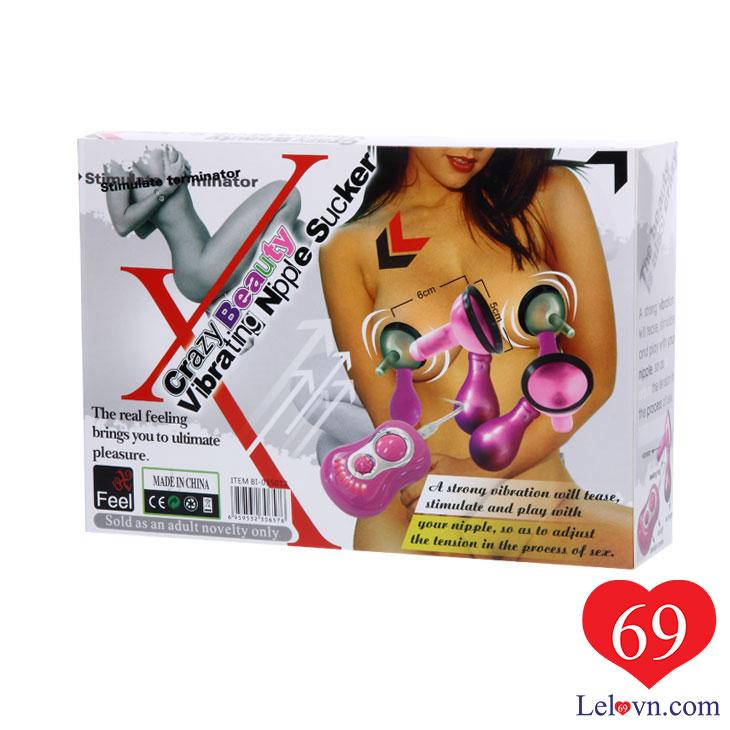 Hộp bao bì máy rung kích thích ngực Vibrating Nipple Sucker