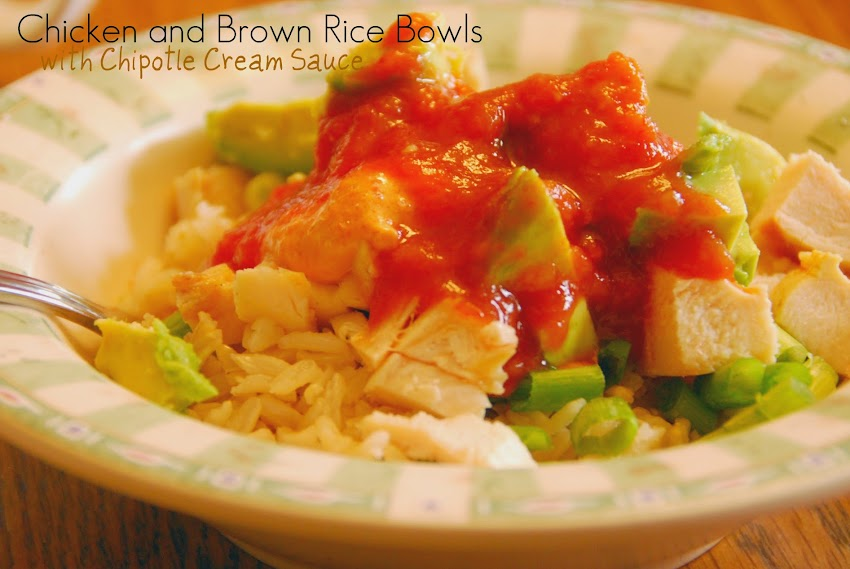 Chicken and Rice Bowls with Chipotle Cream sauce