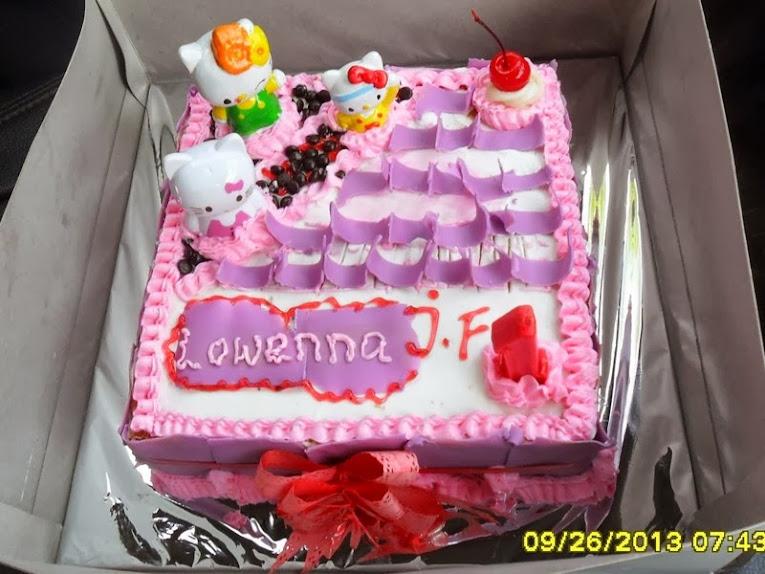 Kue Ulang Tahun Hello Kitty Serang