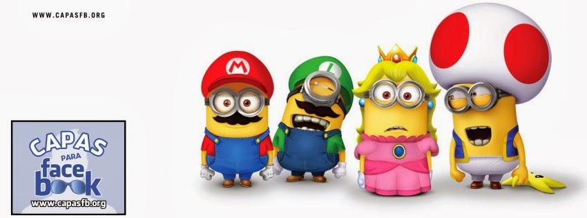 Capas para Facebook Minions Cosplay Mario Bros