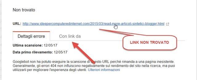 link-non-trovato
