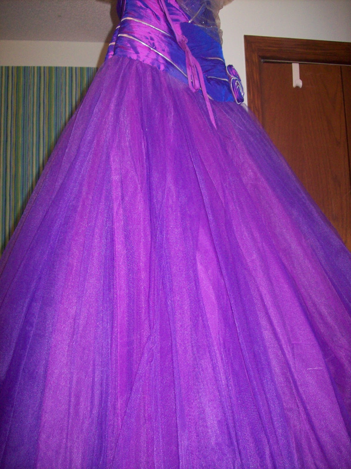 Sew Kansas: Hemming Ball Gown With a Tulle Skirt