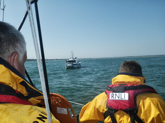 Poole ALB arriving on scene to a 14.3m motor cruiser, with six people onboard, with engine failure in Studland Bay. 22 August 2013 Photo credit: RNLI/Paul Taylor