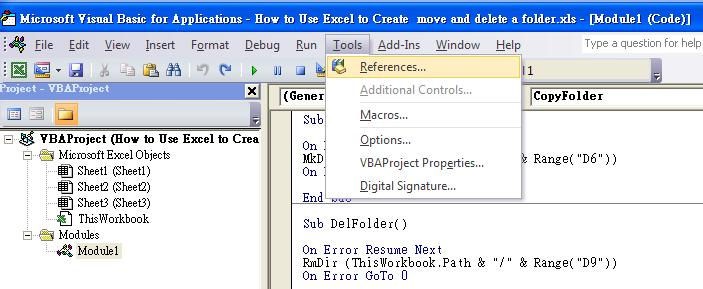 how to use vba to create move and delete a folder excel solution