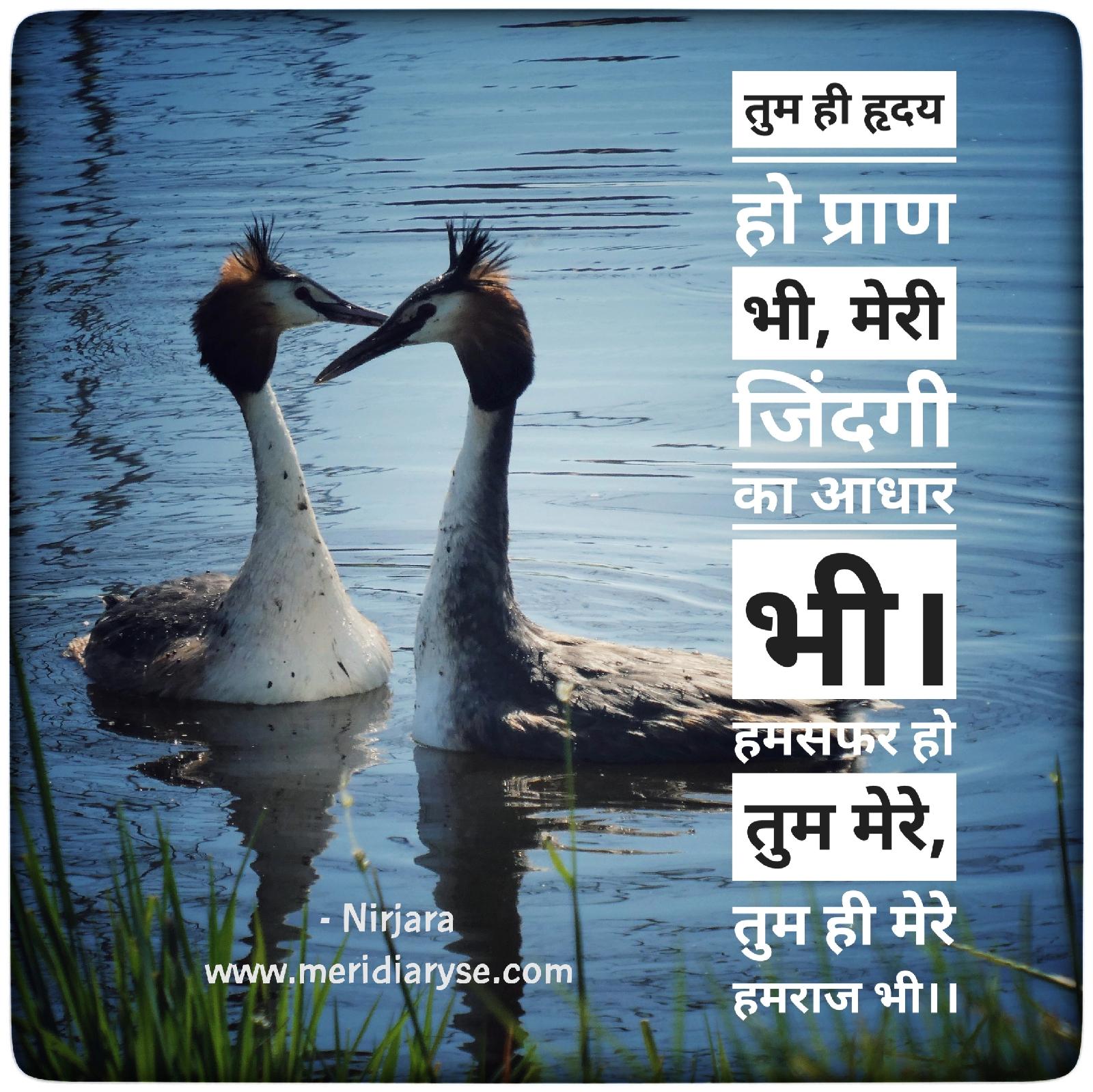 Tum hi hriday ho pran bhi, Meri zindagi ka aadhar bhi.