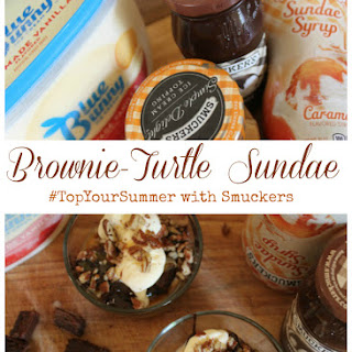 Brownie-Turtle Sundaes.