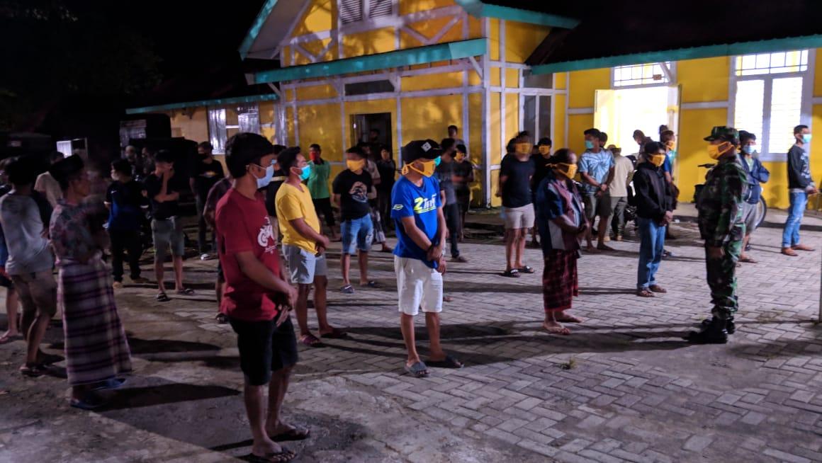 37 Masyarakat Terjaring Dalam Patroli Gabungan yang Dipimpin Kabag Ops Polres Soppeng