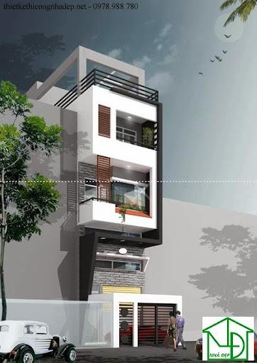 mẫu kiến trúc nhà phố số 1