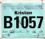 ATC Atlanta Women's 5K race bib.