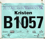 ATC Atlanta Women's 5K race bib.