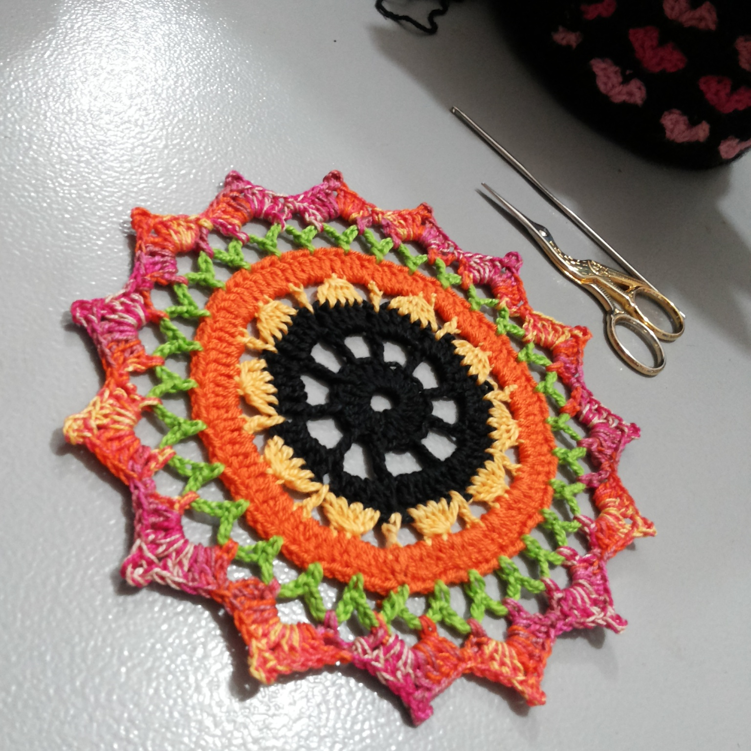 Mandala Em Croch Com Gr Fico Aztop Crochet