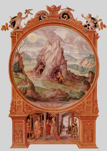 Miners Excavating Hill From Splendor Solis, Hermetic Emblems From Manuscripts 1