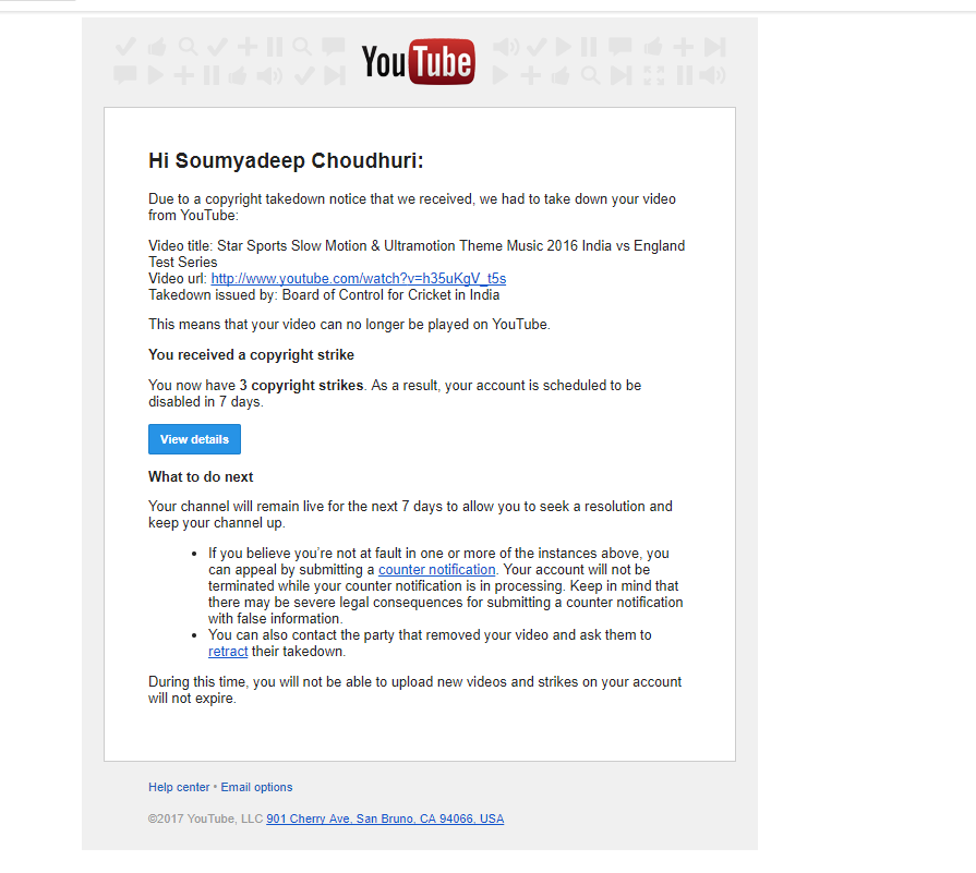 My Youtube Channel Will Be Disabled After 7 Days, So What To