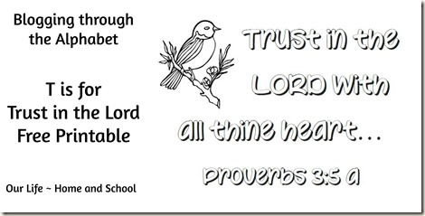 T is for Trust in the Lord