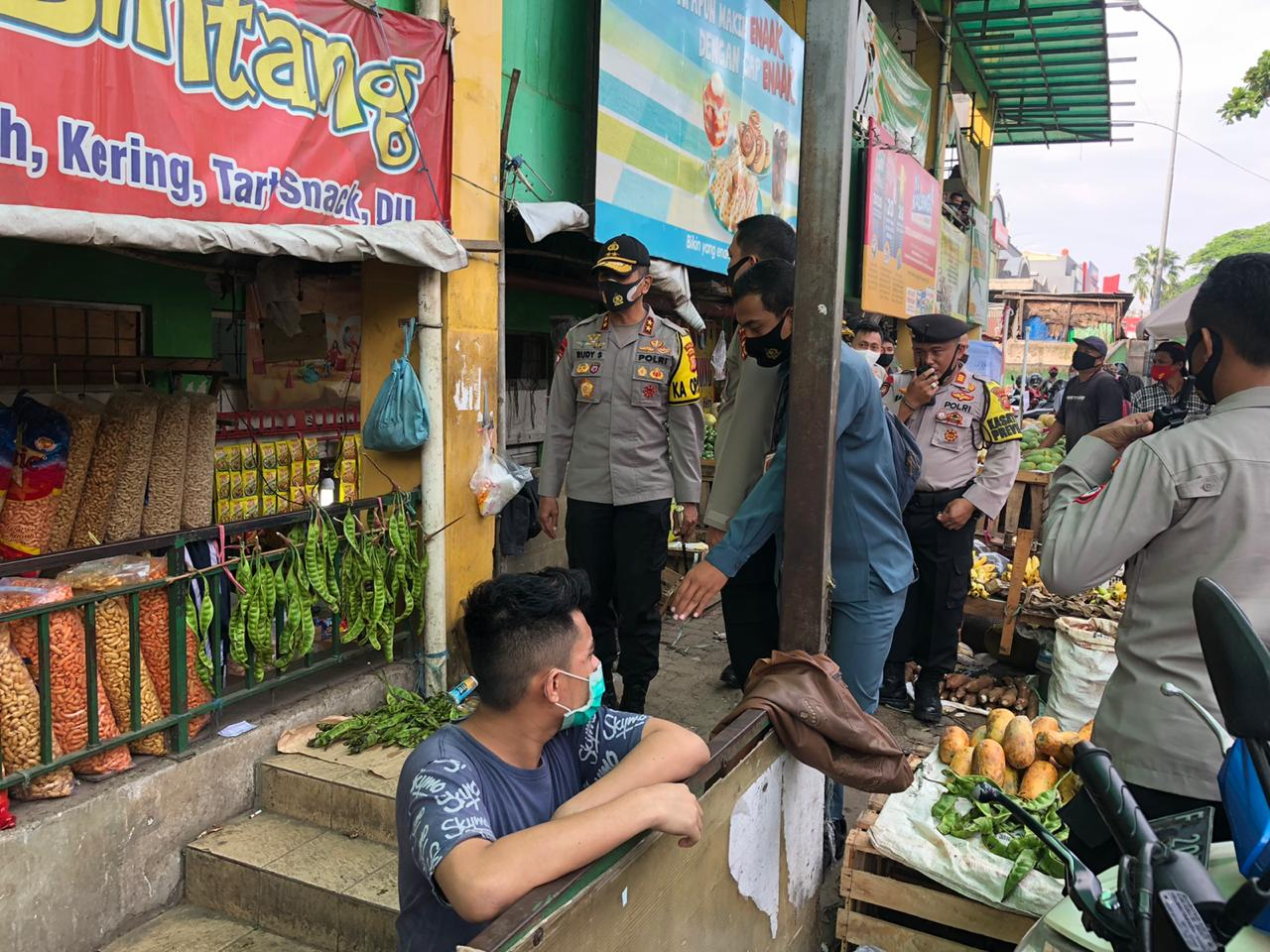 Kapolda Jabar tinjau Pelaksanaan Operasi Yustisi di Beberapa Pasar Tradisional dan Terminal Bogor