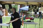 Deacon Claude in Voter Registration Tent