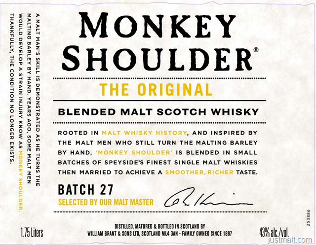 Monkey Shoulder The Original Blended Malt Scotch Whiskey