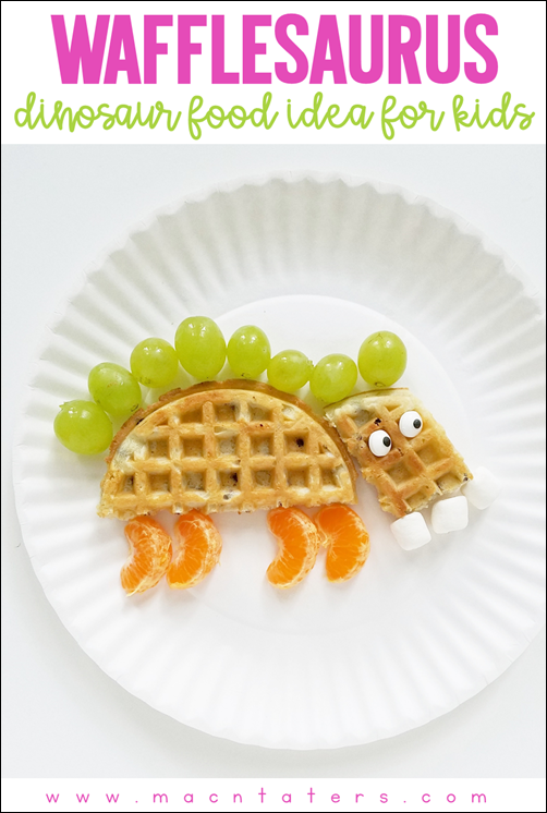 Wafflesaurus: Dinosaur Themed Snack Ideas for Kids