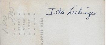 Ida Zielinger DL ants back