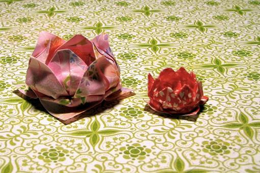 tutorial flor de lótus origami