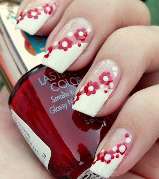 Easy Flower Nail Art Tutorial Design | Fashion Qe