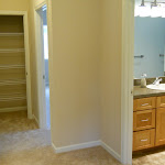 Upstairs hall with closet
