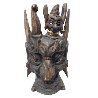 Carved Wood Mask Sculpture