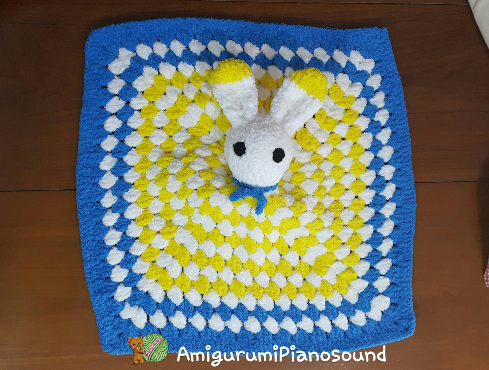 It Is Really Fun To Crochet This, With Simple Granny Square And Adding  Bunny Head To It Granny Square Is A Classic Crochet To Work With, And  Result Always