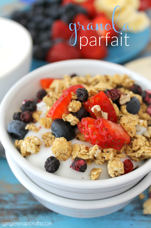 Granola Parfait at GingerSnapCrafts.com #recipe #granola_thumb