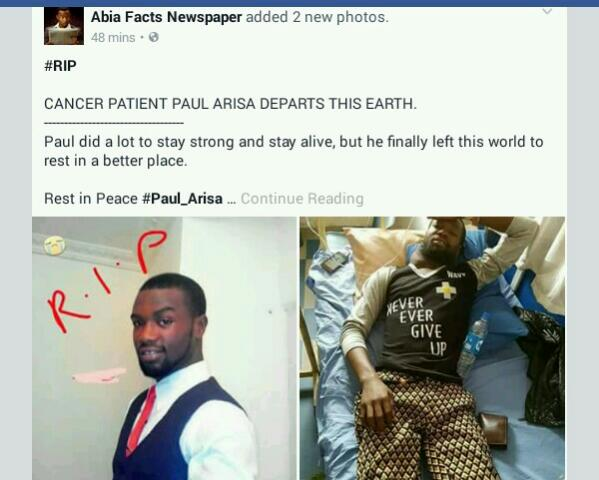 Nigerian Cancer Patient Whose Photos Went Viral Dies (Photos)
