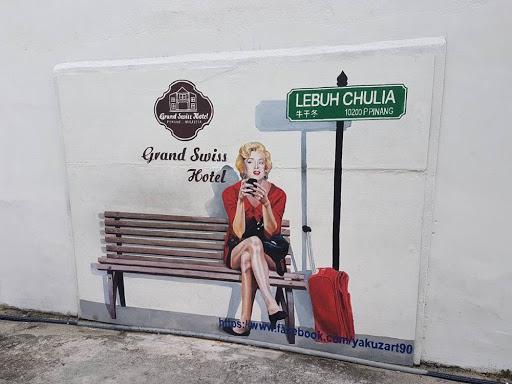 Marilyn Monroe Wall Mural at Lebuh Chulia in Penang