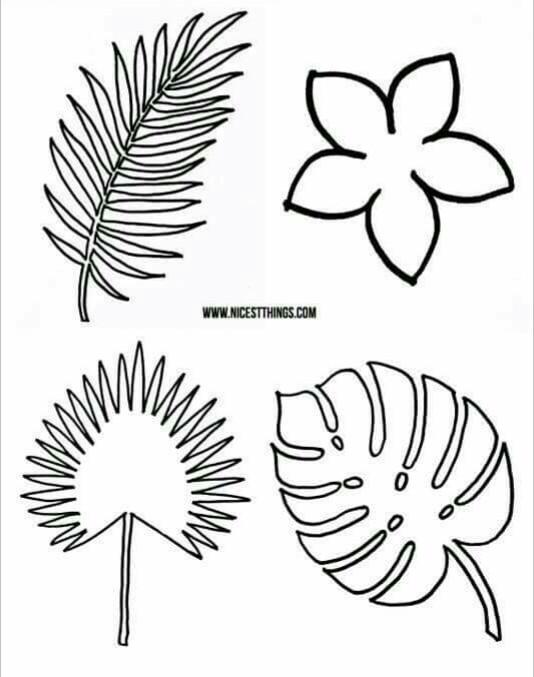 Como hacer hojas de helecho en papel
