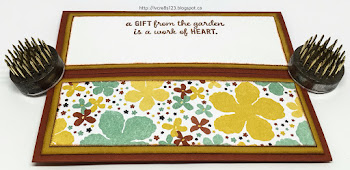 Linda Vich Creates: Gift From The Garden Corner Fold Card. Botanical Gardens DSP serves as both backdrop and embellishment for this lovely Corner Fold card.