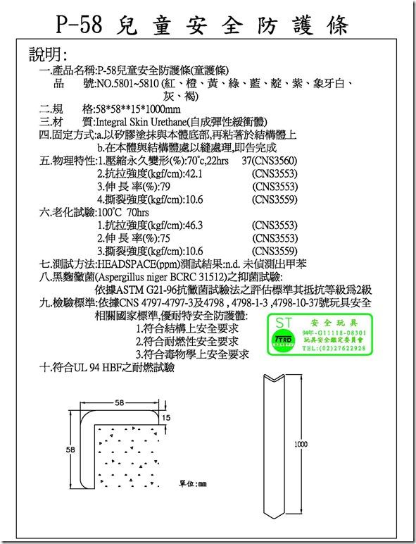P58安全防護條