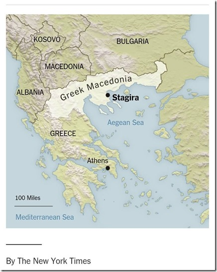 The New Work Times. By NIKI KITSANTONIS MAY 26, 2016. Κλικ εδώ να διαβάσετε το άρθρο By NIKI KITSANTONIS MAY 26, 2016 στους New Work Times με το χαρακτηριστικό χάρτη που δημοσιεύθηκε, απόδειξη του διαχρονικού ματ που έχει υποστεί η ελληνική ιδεολογία-διπλωματία… και δεν το έχει καταλάβει…