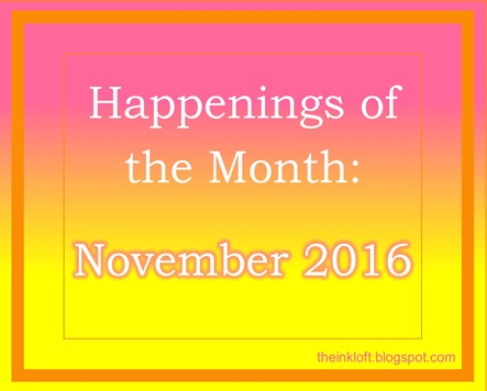 Happenings of the Month Nov 2016