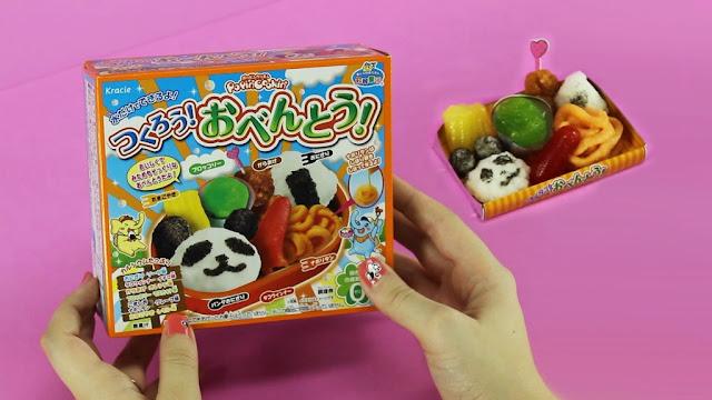 Hình ảnh Gôm làm món cơm Obento Nhật Bản Kracie Popin Cookin  thú vị độc đáo