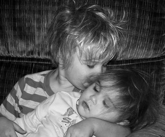My kids snuggle.