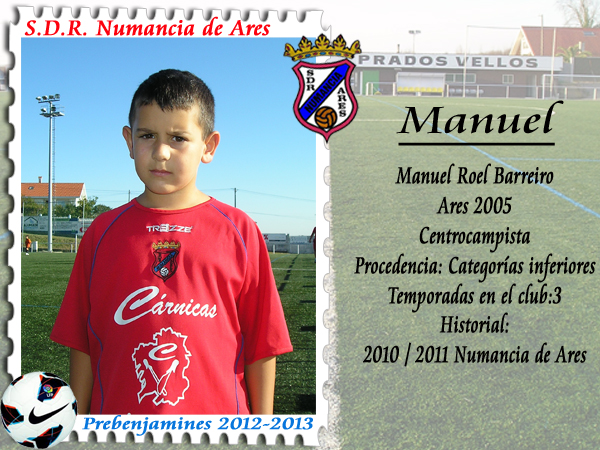 ADR Numancia de Ares. Manuel.