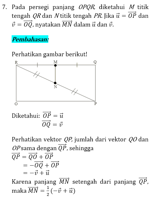 Soal dan Pembahasan Vektor 7