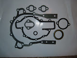TCG .. Complete timing cover gasket set. Includes rubber front seal, kit will come with correct water pump gasket for your engine. 32.00