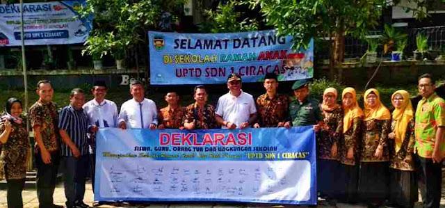 SDN 1 Ciracas Purwakarta, Ramah Anak dan Anti Korupsi
