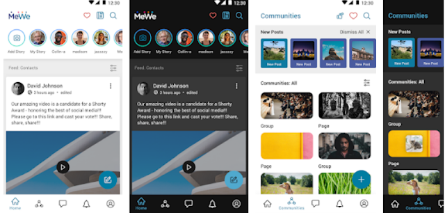 Install MeWe latest mobile app for free