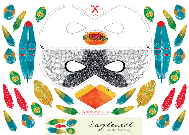 Free Printable Bird Mask by Anjora Noronha   Things We Do Blog